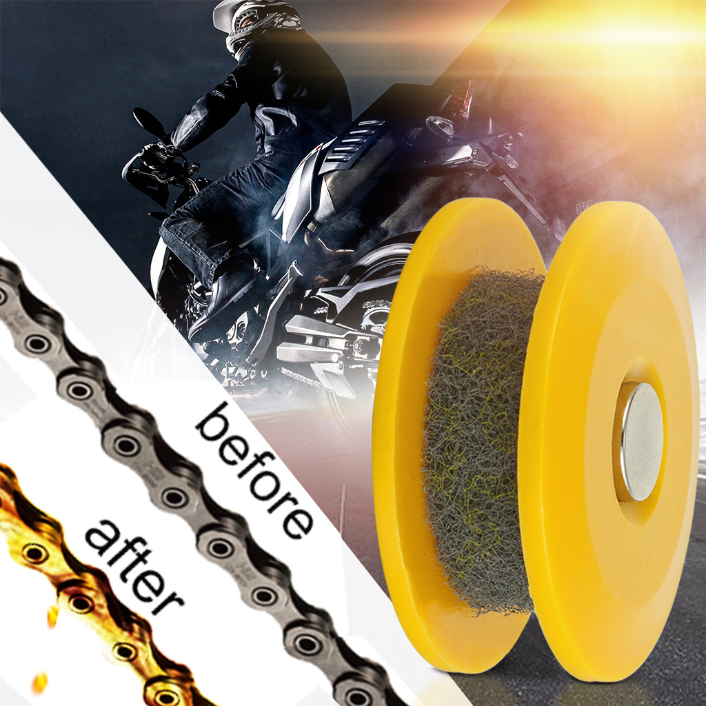 Bicycle chain oiler lubricate smooth PVC gadget Practical gear Durable roll W0J7