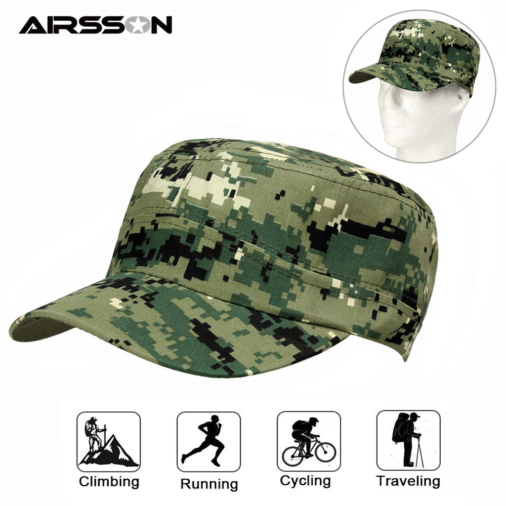 Tactical Summer Cap Camouflage Military Patrol Combat Cap Hat Army Cadet Adjustable Hunting Cap Sunshade Hat For Outdoor Sports