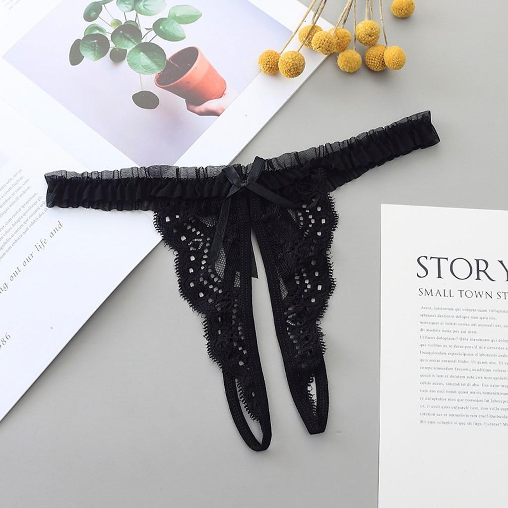 Women's Panties Sexy Lingerie Lace Open Thong Panties G-Pants Lingerie Pajamas Sous Vetement Femme Women Underwear Panties