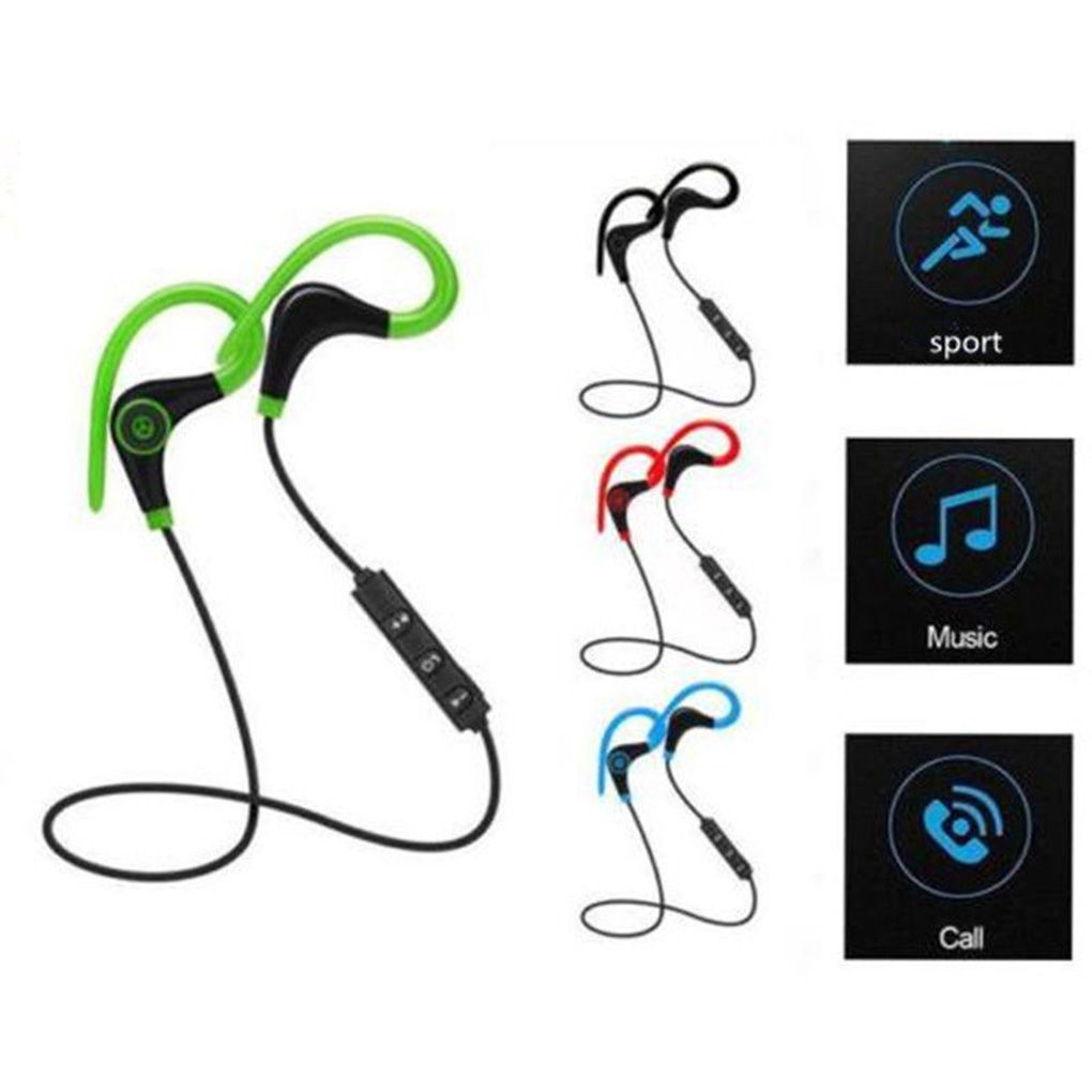 Bluetooth Wireless Sport Headphone Stereo Bass Earphone Running Earphones With Mic Ear Hook Headset for Xiaomi 3