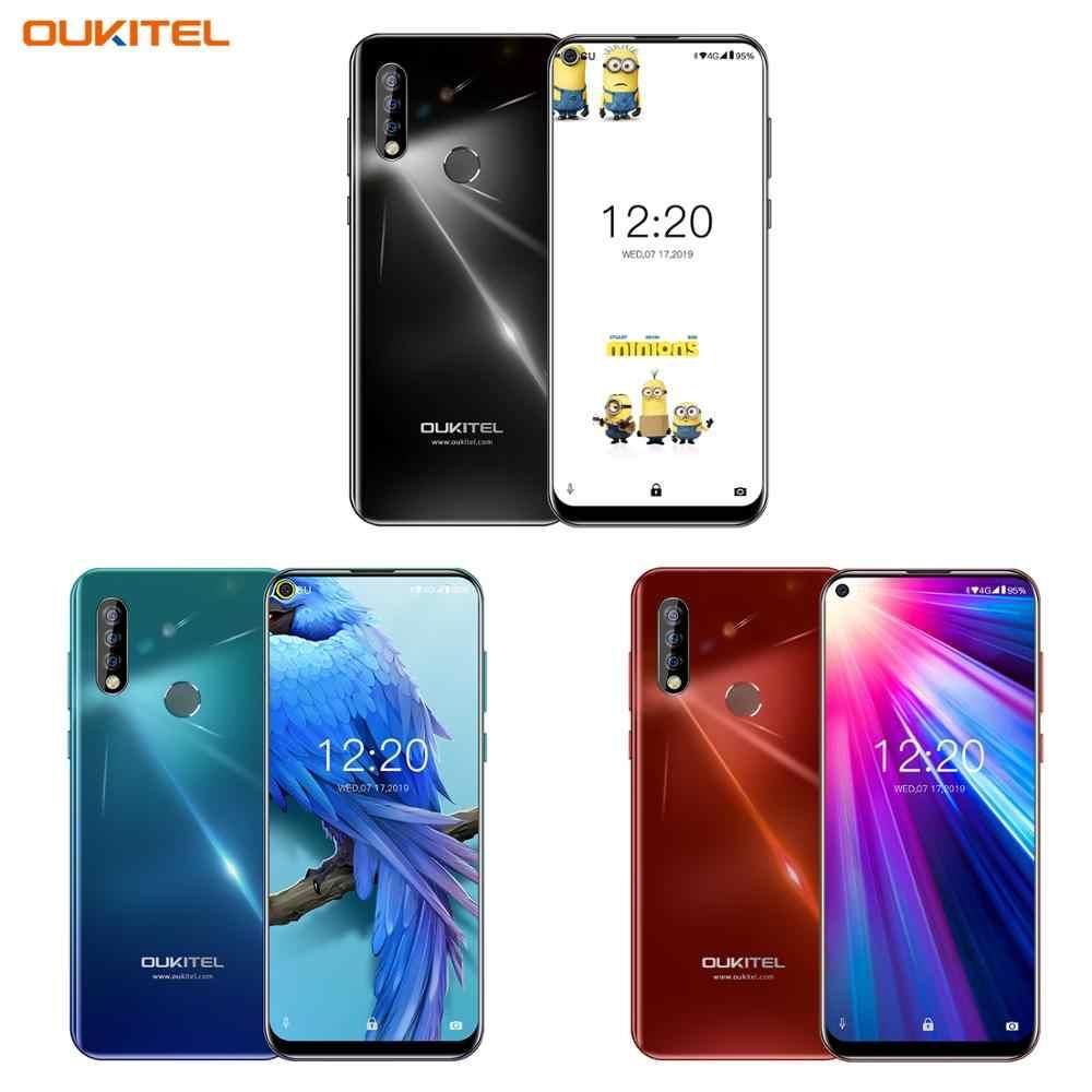 Oukitel C17 6.35 ''MT6763 Octa Core Android 9.0 Điện Thoại Thông Minh 3GB 16GB 13MP Ba Camera Vân Tay 3900 MAh 4G Di Động