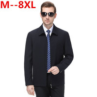 8XL 6XL 5XL men's coat thin spring and autumn seasonal work wear double sided middle aged men's jacket work clothes large code