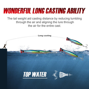 Image 3 - NOEBY Fishing Lure Popper sea tuna lure 120mm/160mm Topwater Hard Bait Iscas Artificiais Leurre De Peche Wobbler fishing tackle