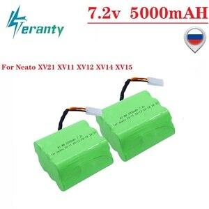 Aktualizacja 5000mAh 7.2V baterii na Neato XV21 XV11 XV12 XV14 XV15 zamiatarka odkurzacze Ni-MH 7.2v akumulator