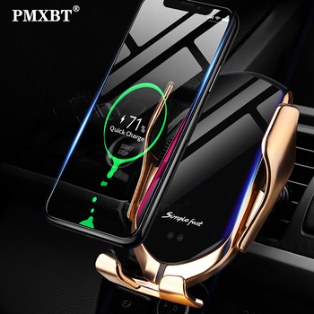Smart Sensor Car Wireless Charger 10W Qi Fast Charging Intelligent Infrared Automatic Clamping Phone Holder For iPhone 8 Samsung Mobile Phone Accessories Smart Phones & Tablets Smartphones
