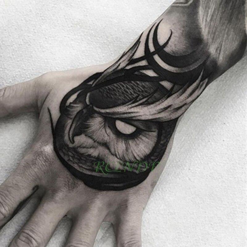 Водостойкая Временная тату-наклейка, совы, птицы, искусственные тату со вспышкой, тату ручной работы среднего размера, художественные татуировки для мальчиков, женщин и мужчин