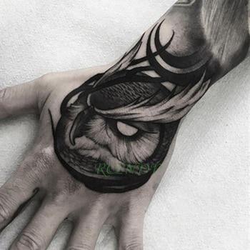 Waterproof Temporary Tattoo Sticker owl bird animal Fake Tatto Flash Tatoo Hand Arm middle size art Tattoos for boy Women Men