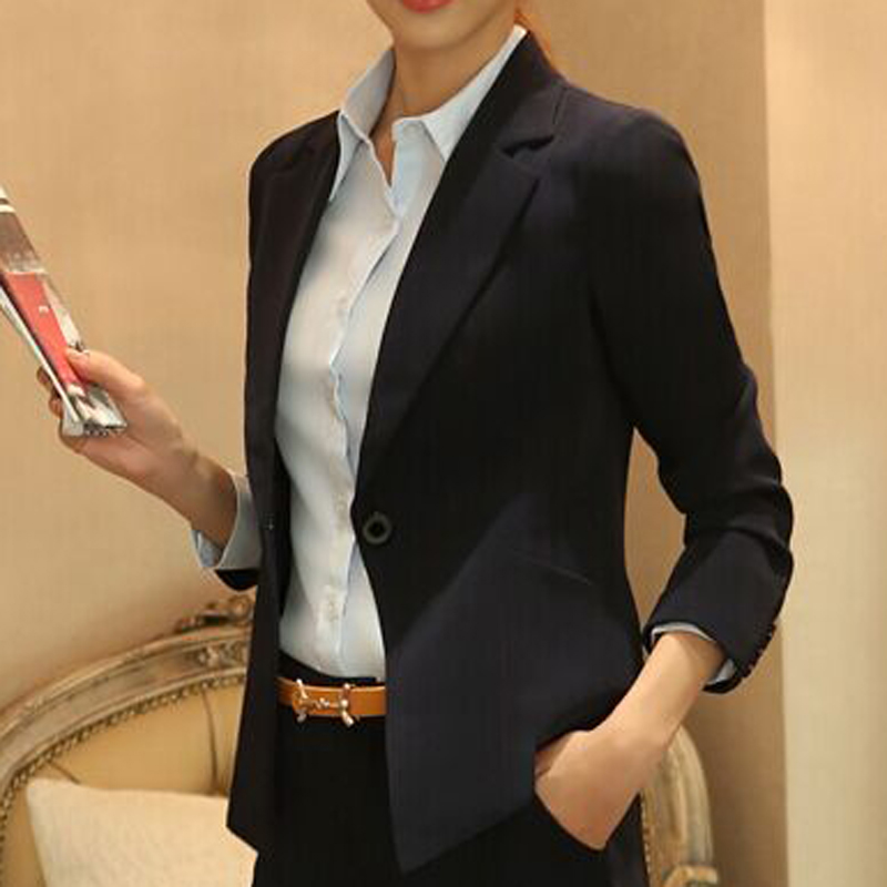 Spring And Autumn New Short Black Small Suit Female Korean Version Slim Women's Long Sleeved Small Suit Jacket