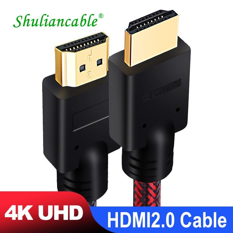 Shuliancable HDMI-совместимый кабель 2,0 4k кабель 1 м 2 м 3 м 5 м 10 м 15 м 20 м сплиттер переключатель для HD ТВ ноутбука PS3 PS4 компьютера xbox