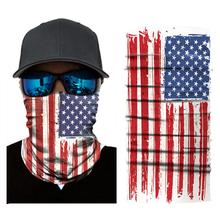 3D custom flag illustration magic turban neck leggings summer thin tubular ring scarf sunscreen locomotive mask face