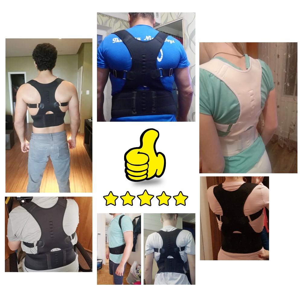 Male Female Adjustable Magnetic Posture Corrector Corset Back Brace Back Belt Lumbar Support Straight Corrector de espalda S-XXL 4