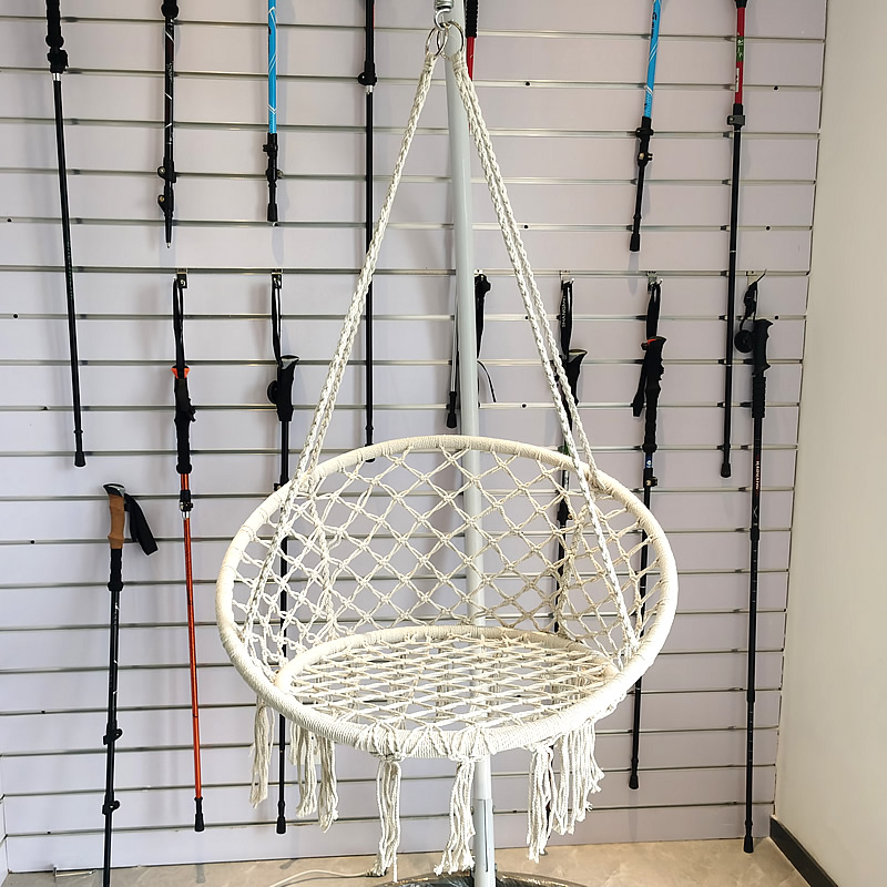 Nordic Style Round Hammock Hanging Chair Swing Rope Garden Seat Outdoor Indoor Safety