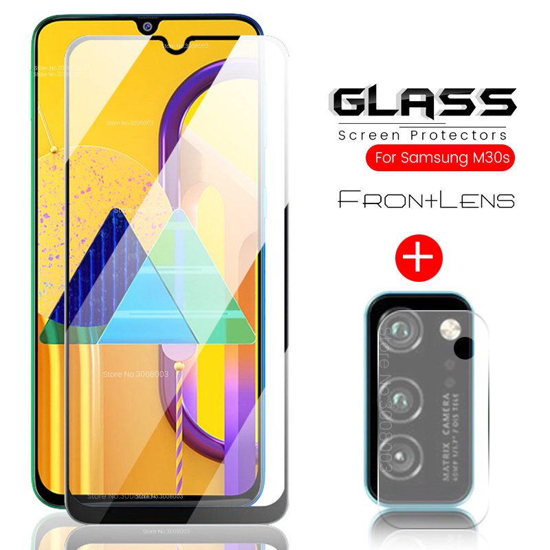 2-in-1 For Samsung M31 Glass Protective Camera Glass For Samsung Galaxy M30s Tempered Glasses Samsun M30 S M 30 30s 31 30m 31m