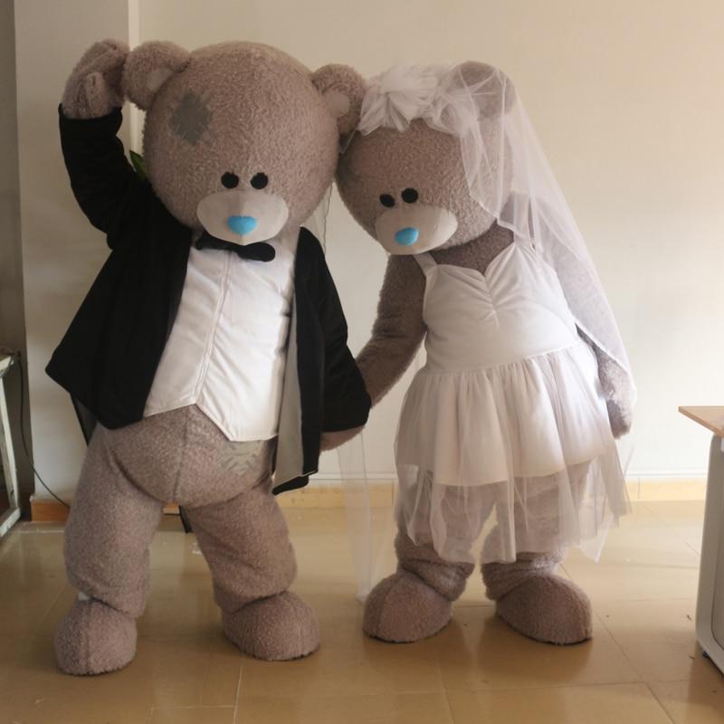 Russie ours en peluche costume bleu mascotte costume taille adulte, ours luxueux peluche fête de carnaval célèbre usine de mascotte