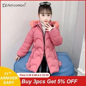 2020 novo outono inverno bebê crianças casaco para a menina de pele grossa quente crianças jaquetas para meninas casaco com capuz adolescente outerwear 12y