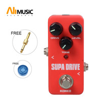 KOKKO FOD5 Supa Drive Portable Mini Drive Guitar Effect Pedal Warm and Clean Overdrive effect Pedal With Gold Straight Connector