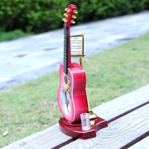 criativo guitarra forma despertador pe relogio