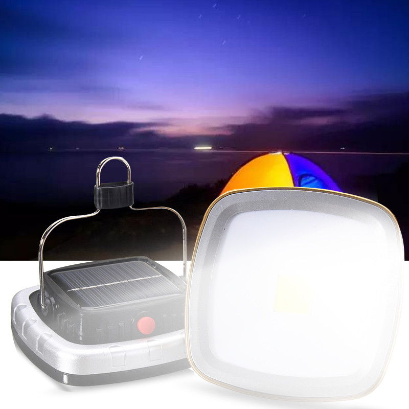 DC5V  Solar Portable Rechargeable Flood Light LED Lantern Outdoor Garden Camping Tent Light Lamp