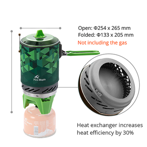 Image 2 - Feu érable X2 cuisinière à gaz extérieure brûleur touristique Portable système de cuisson avec échangeur de chaleur Pot FMS X2 Camping randonnée cuisinière à gaz