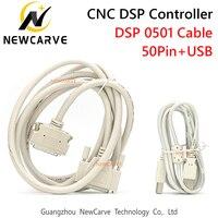 DSP0501 컨트롤러 케이블 CNC 라우터 용 3 축 컨트롤러 시스템 용 50Pin + USB 케이블 NEWCARVE