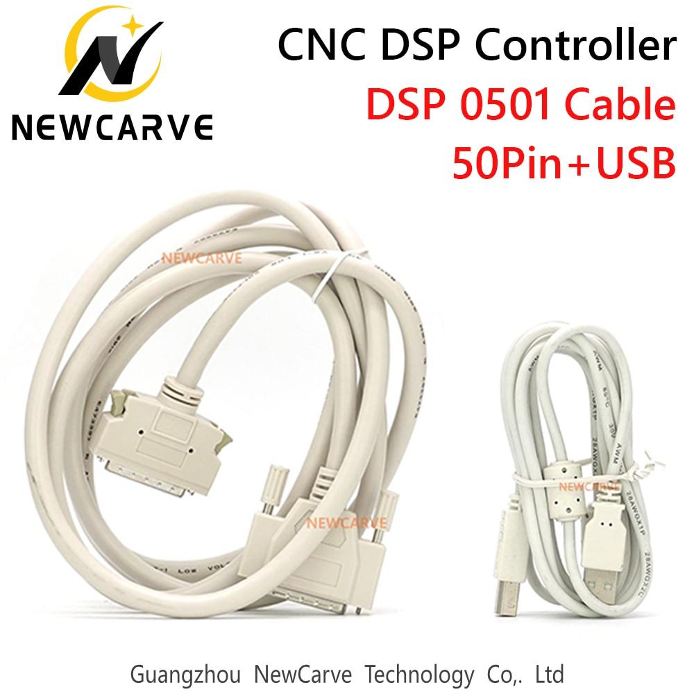 Aletler'ten CNC Kontrolör'de DSP0501 kontrol kablosu 50Pin + USB kablosu 3 eksen kontrol sistemi CNC Router NEWCARVE title=