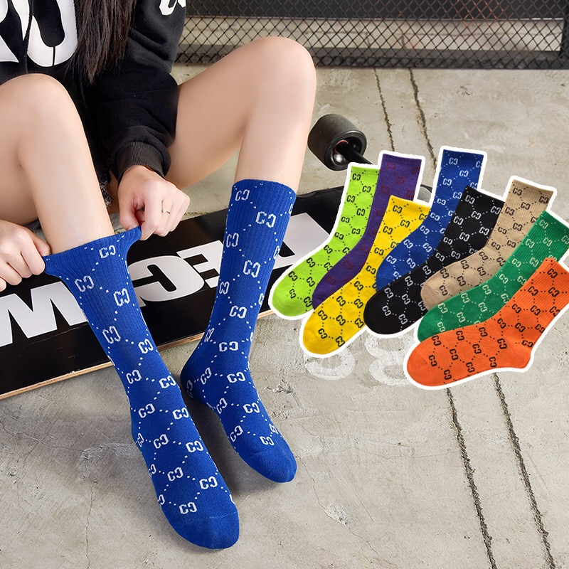 Interesting long tube trend ladies men's sports socks creative lettering Harajuku street clothing street shooting novelty socks on AliExpress