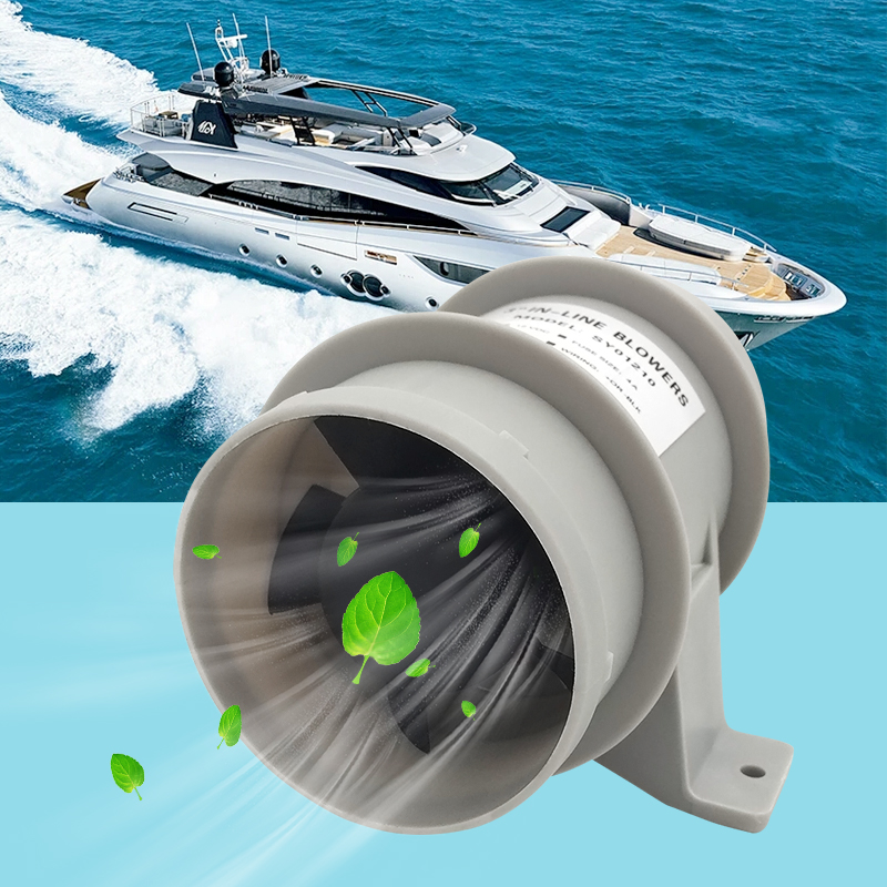"Image 5 - 3"" In Line Boat Air Blower Marine Bilge/Engine/Galley Ventilation 5 Fan 12V 145CFM Quiet For RV Yacht Boat Accessories Marine-in Marine Hardware from Automobiles & Motorcycles"
