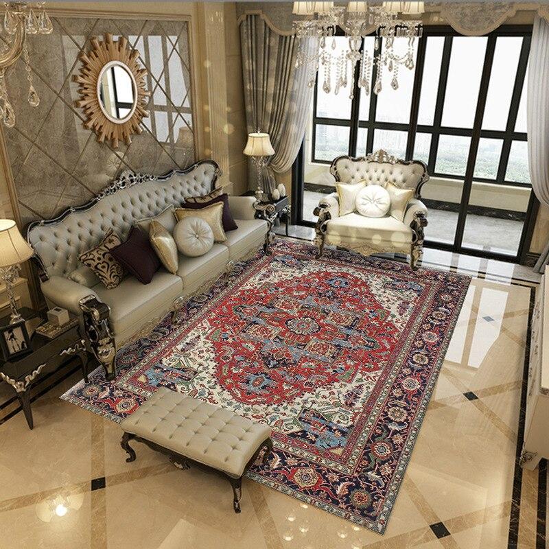 tapis d art geometrique de style romain ancien tapis de sol antiderapant pour salon chambre a coucher a la mode pour cuisine