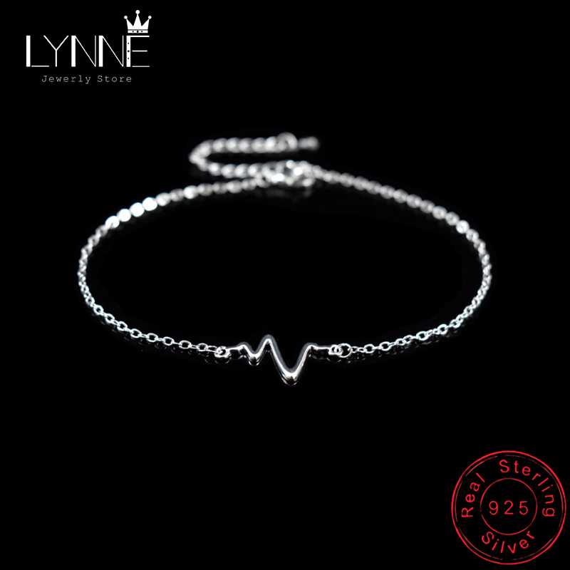 New Sexy Beach Lightning Pendant Anklet 925 Sterling Silver Simple Waves Anklets Bracelets For Fashion Women Foot Chain Jewelry