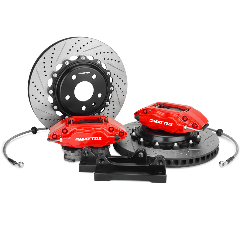 Mattox Car Brake Caliper Drilled Slotted Disc 300*24mm Brake System Front Brake for VW Golf 6 2008 2012 Front Wheel 15inch