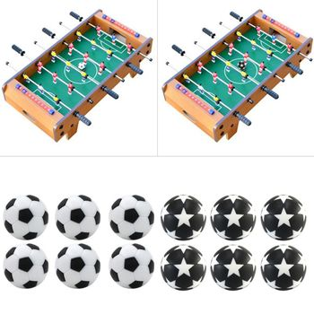 6 sztuk 32mm piłkarzyki do piłkarzyków piłka nożna akcesoria do maszyn zamienniki Mini czarna i biała kulka dla dzieci dorosłych gry halowe tanie i dobre opinie OOTDTY CN (pochodzenie) Mini stół piłkarzyki Table Soccer Ball 32mm 1 26