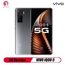 CN версия VIVO IQOO 5 5G Смартфон Android Snapdragon 865 отпечатков пальцев тройной Камера Тип Type-C для быстрой зарядки 55 Вт KPL игровая