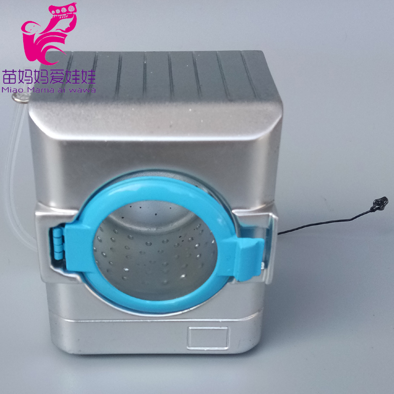 Mini Washing Machine Miniature Dollhouse PlayDoll Houes Toys For Barbie,Blyth,1/6 Bjd Doll Accessories