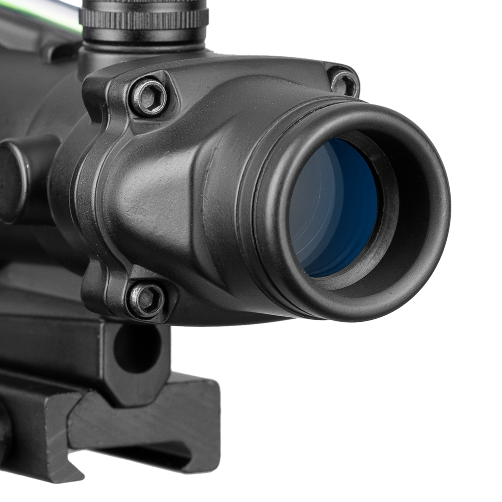 Image 3 - Acog 1x32 Tactical Red Dot Sight Real Green Fiber Optic Riflescope With Picatinny Rail For M16 Rifle Hunting Scope-in Riflescopes from Sports & Entertainment