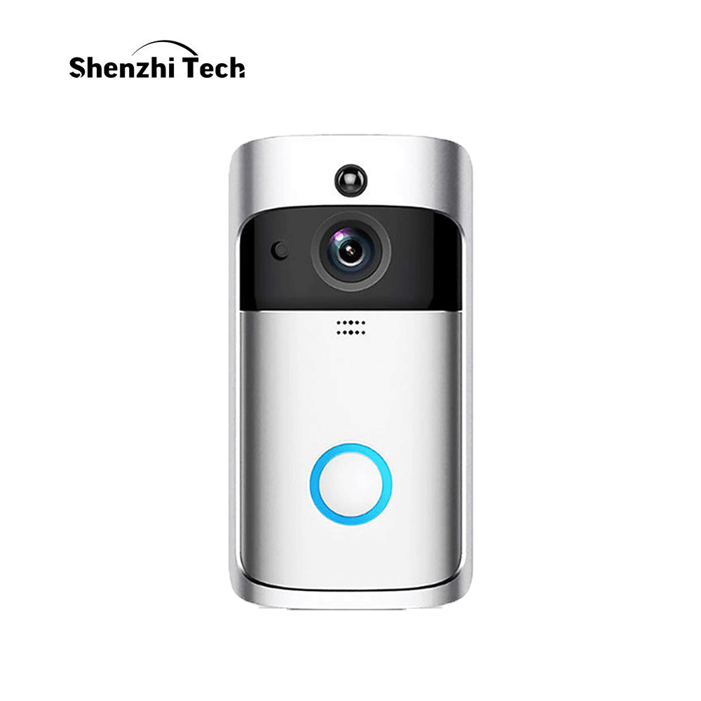 WIFI Camera Doorbell, 3 Batteries Smart IP Camera Motion Detection Night Vision Two-way Audio Home Security Camera Doorbell D001