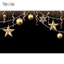Yeele Christmas Backdrop Golden Star Newborn Baby Birthday Party Customized Photocall Photography Background For Photo Studio