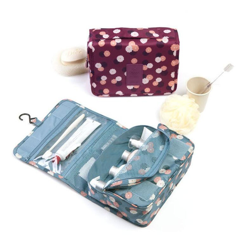 Makeup Travel Bags For Women Waterproof Packing Cube High Capacity Travel Organizer Bathroom Washing Classification Hanging Bag