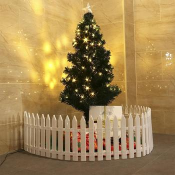 Christmas Tree Fence White PVC Fence Garden Home Decoration Fence Guardrail Surround Fence Xmas Christmas Tree Decorative Fence christmas tree 1 8 m 180cm white christmas tree decoration tree decoration packages suit tree