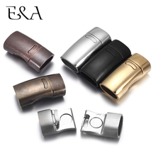 2pcs Stainless Steel Magnetic Clasp Hole 10*5mm 11*6mm Leather Cord Clasps Magnet Lace Buckle for Bracelet DIY Jewelry Making stainless steel magnetic clasps hole 12 6mm for leather cord bracelet magnet clasp buckle diy jewelry making supplies accessory
