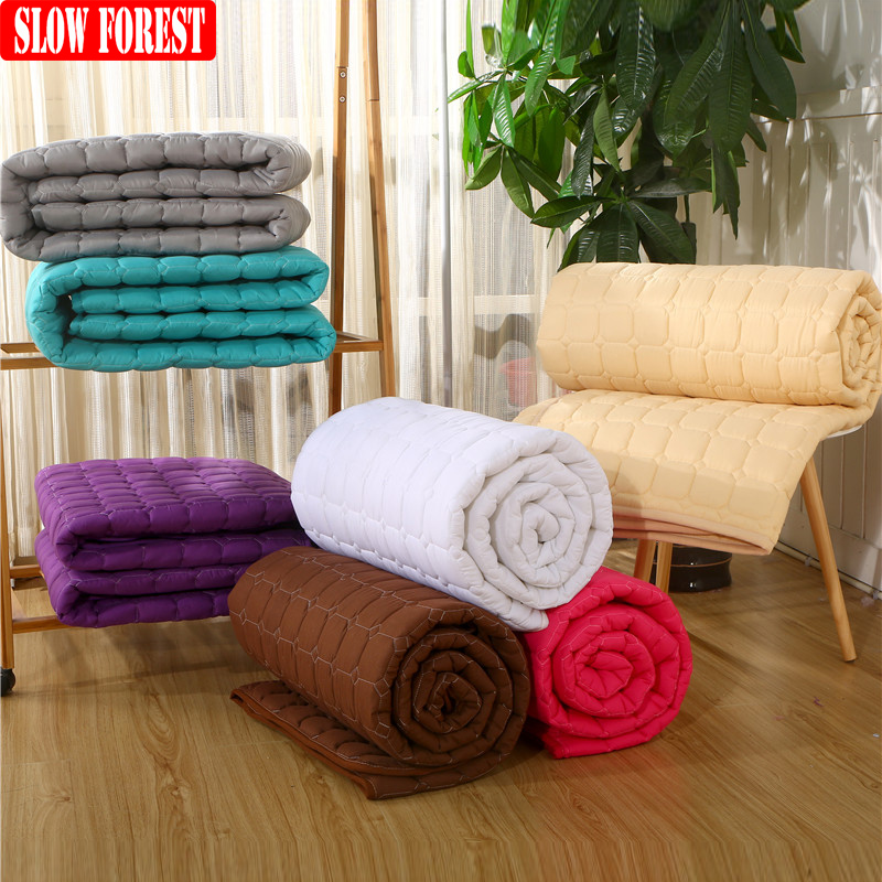 Slow Forest Washed Fold Cotton Tatami Mattress Double Single Student Dormitory Bed Mat Topper Tatami Super Warm Mat with Straps