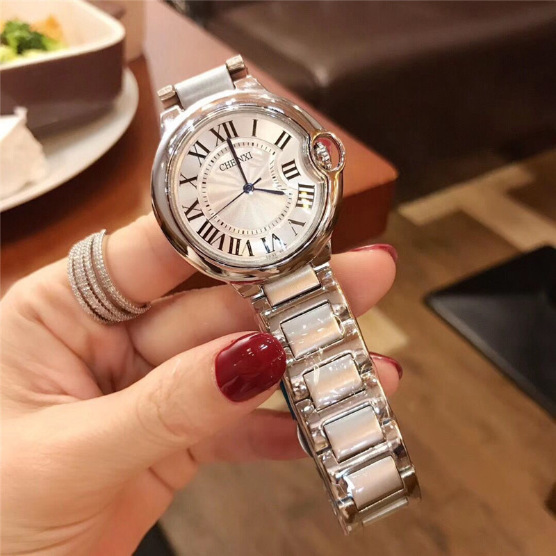 2020 New Blue Needle Balloon Women's Watch Fashion Roman Numeral Classic Quartz Stainless Steel Wristwatch Gifts