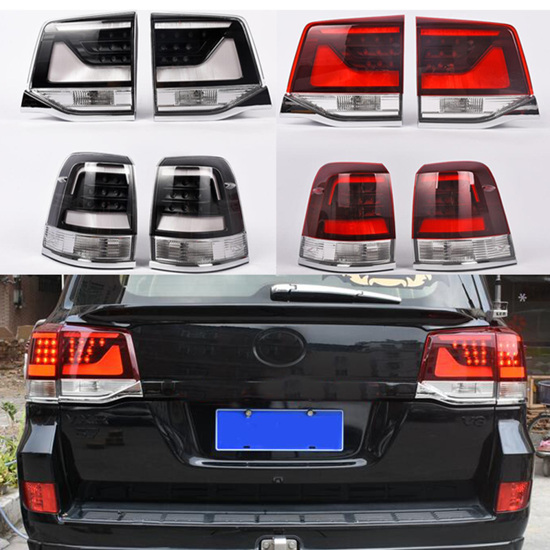 Car Accessories For Toyota <font><b>Land</b></font> <font><b>Cruiser</b></font> <font><b>LC200</b></font> 2016 <font><b>2017</b></font> 2018 Tail Light LED Tail Light Rear LED DRL Brake Park Signal Stop Lamp image