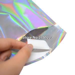 Image 5 - 100 adet kendini mühür yapıştırıcı kurye çanta lazer holografik plastik poli zarf mailler posta nakliye posta çantaları