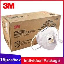 3M FFP2 máscara KN95 9501V + válvula Individual embalado Earband filtro Mascarillas de máscaras para el rostro boca polvo respirador