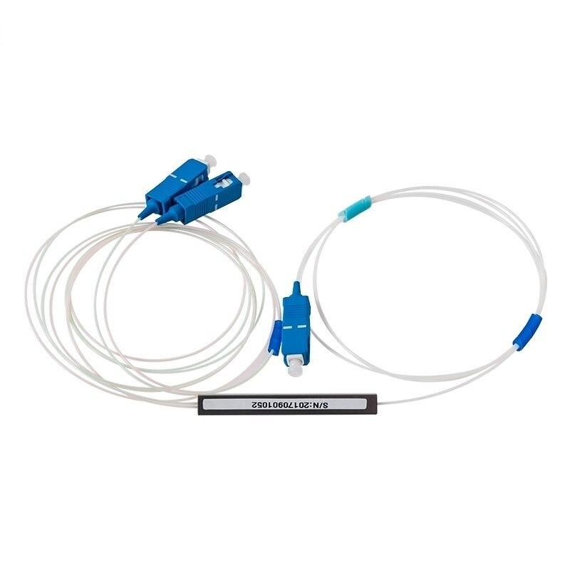 5pcs 1x2 PLC Splitter SC UPC Micro Type Fiber Optic Mini Module 900um Ftth Splitter  SC UPC Splitter 1X2  Fiber Opitc Splitter