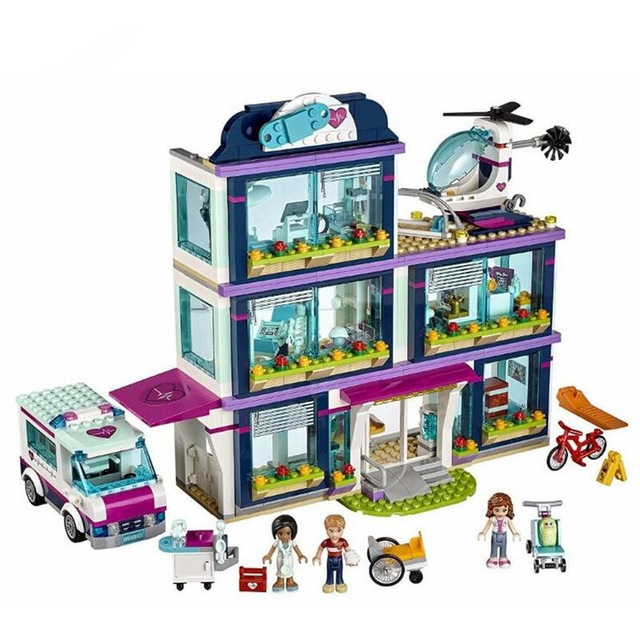 932pcs Princess Heartlake Hospital Figures Building Blocks  Compatible With Legoinglys Friends 41318 Bricks  Toys For Children