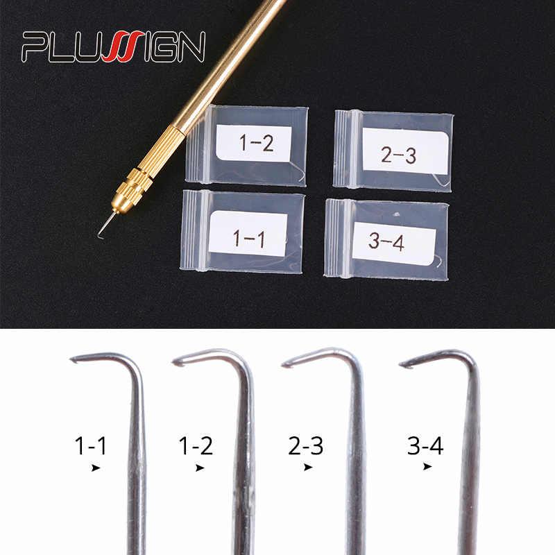 Plussign Spitze Perücke Lüftungs Nadel Mit Messing Halter Perücke Machen Nadel Kit 1Pc Halter Mit 4Pcs Nadel (1-1,1-2,2-3,3-4)