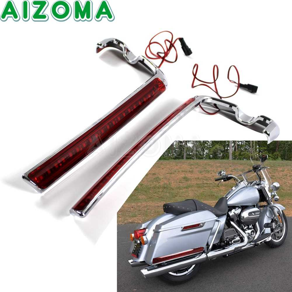 motorcycle led wrap around saddlebags side marker turn signal light for harley touring street glide road king flhr ultra limited