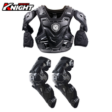 SCOYCO Motorcycle Armor CE Motocross Chest Back Protector Moto Protection Riding Protective Gear Armor + Kneepad 2-piece Set