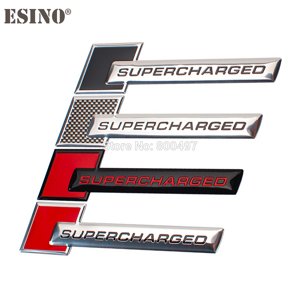 Car Styling Supercharged Turbo Boost Loading 3D Metal Chrome Aluminium Alloy 3D Emblem Badge Sticker Decal Auto Accessory